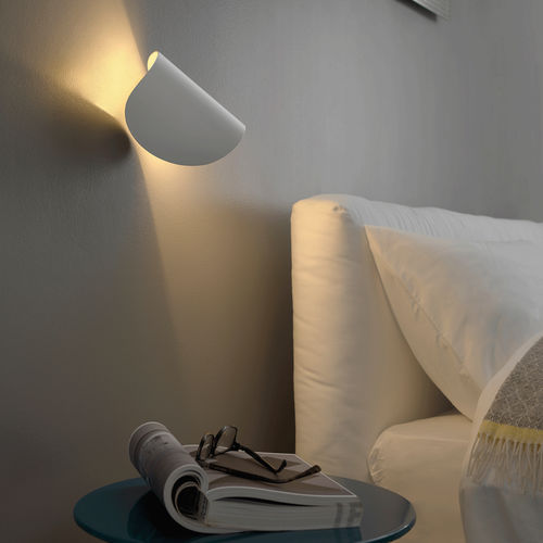 contemporary wall light / aluminum / LED / curved