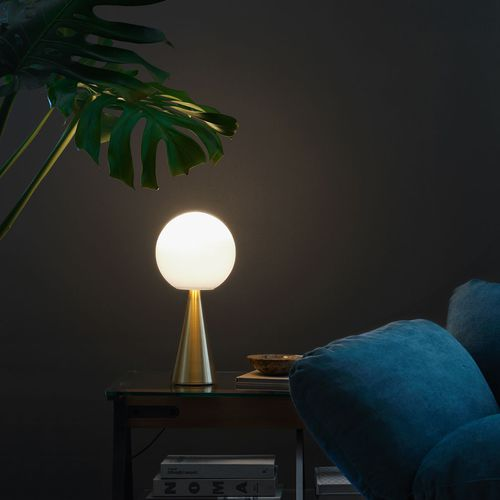 table lamp / contemporary / metal / glass