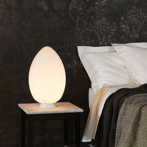 bedside table lamp / contemporary / blown glass / sculpture