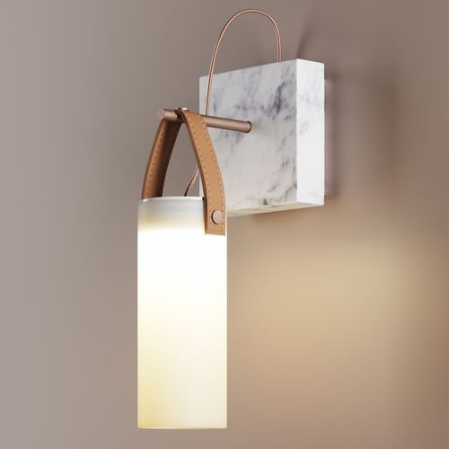 contemporary wall light / metal / glass / marble