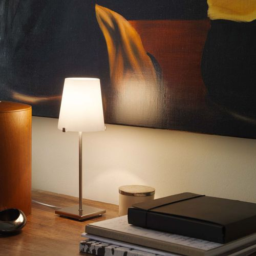 table lamp / contemporary / metal / blown glass