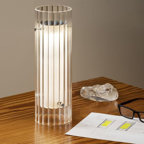 table lamp / contemporary / borosilicate glass / dimmable