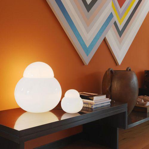 table lamp / original design / blown glass / halogen