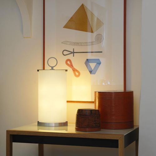 table lamp / contemporary / glass / halogen