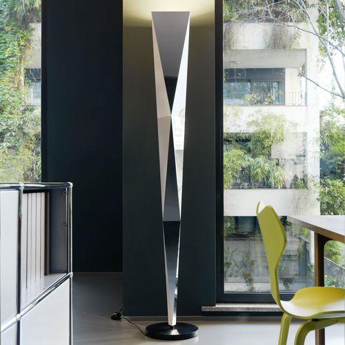 floor-standing lamp / original design / metal / halogen