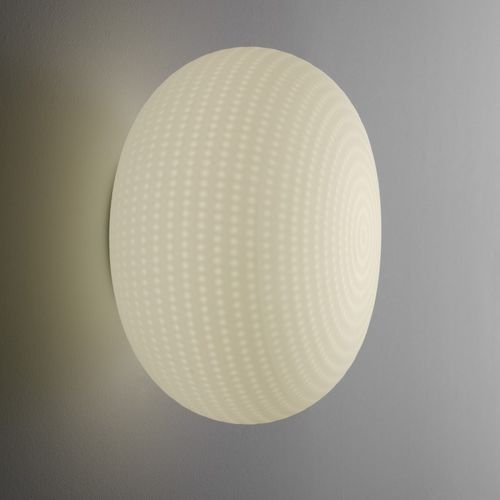 contemporary wall light / blown glass / LED / round