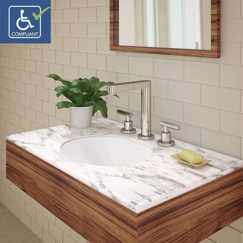 Undercounter Washbasin 1412 Cwh Deco Lav Oval Ceramic Contemporary