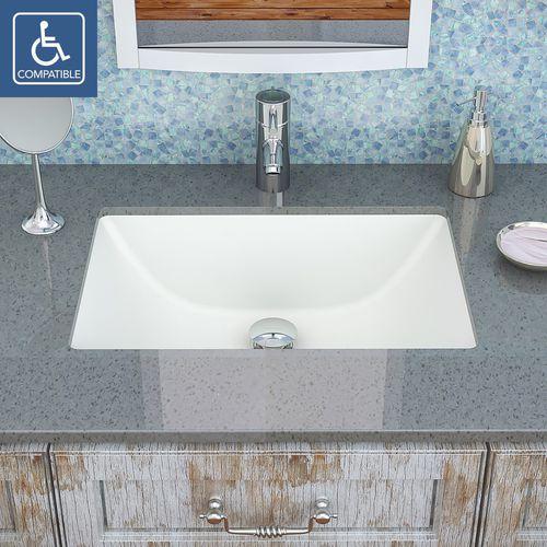Undercounter Washbasin 1402 Series Deco Lav Rectangular Ceramic Contemporary