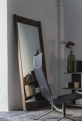 free-standing mirror / living room / contemporary / rectangular