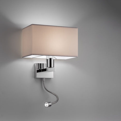 contemporary wall light / aluminum / steel / painted metal