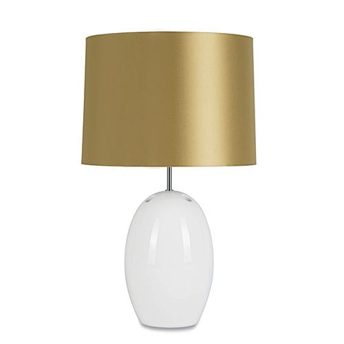 table lamp / contemporary / painted metal / fabric