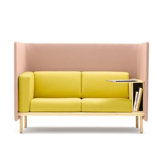 modular sofa / contemporary / fabric / wooden