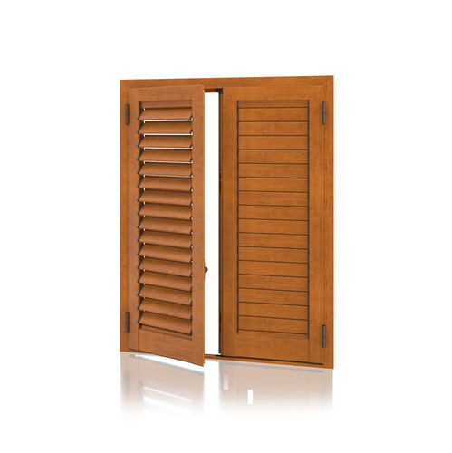swing shutter / aluminum / door / louvered