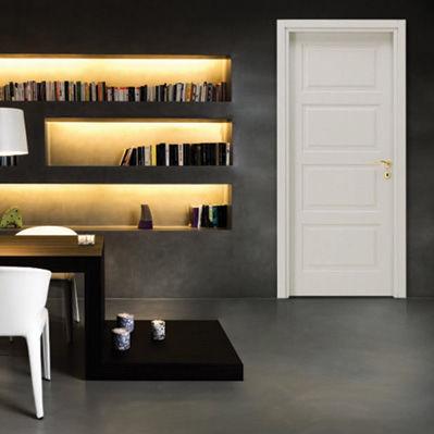 interior door / swing / wooden / glazed