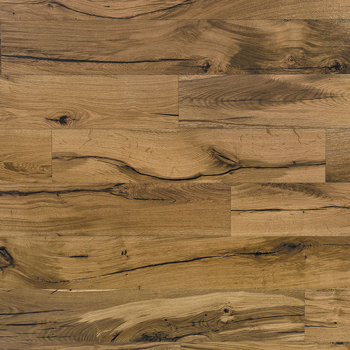 oak laminate flooring / glued / wood look / home