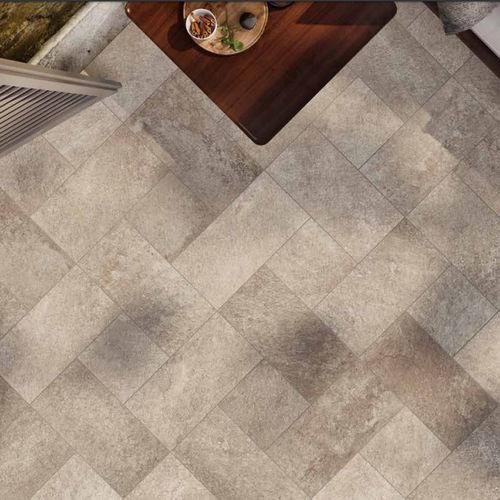 outdoor tile / floor / porcelain stoneware / rectangular