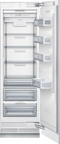 upright refrigerator-freezer / stainless steel / internal freezer compartment