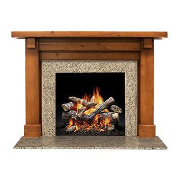 traditional fireplace mantel / marble / wooden