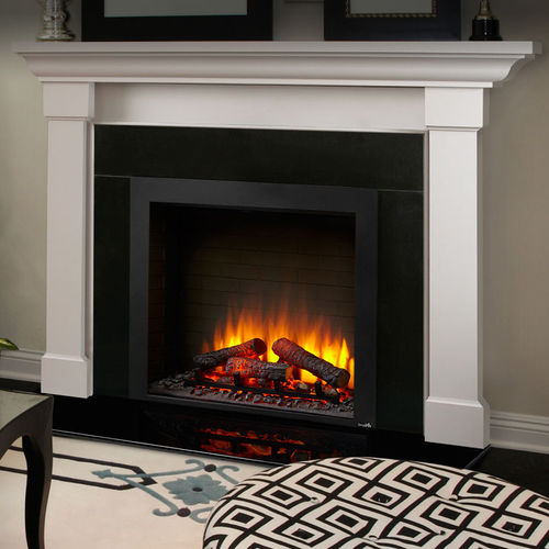electric fireplace / traditional / closed hearth / built-in