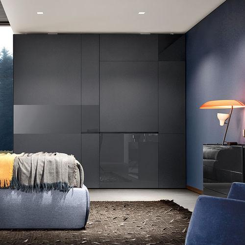 modular wardrobe / contemporary / glass / sliding door