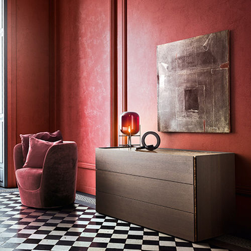 contemporary chest of drawers / lacquered wood