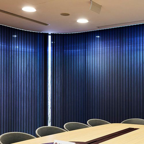 pleated blind fabric / for roller blinds / patterned / plain