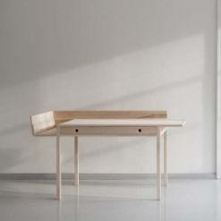 contemporary secretary desk / wooden