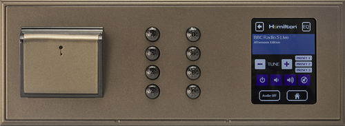 lighting control panel / for multimedia equipment / wall-mounted