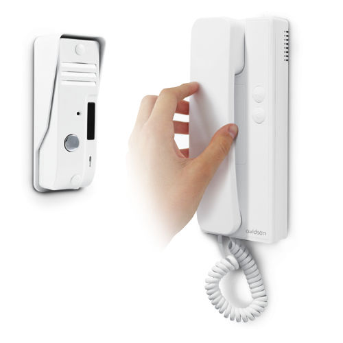 telephone-operated door station / without camera / white / metal