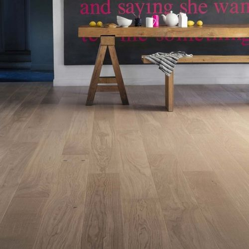 engineered parquet floor / floating / oiled / varnished