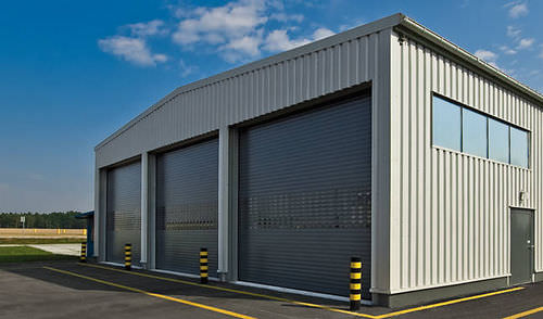 roll-up industrial door / aluminum / glazed / rapid