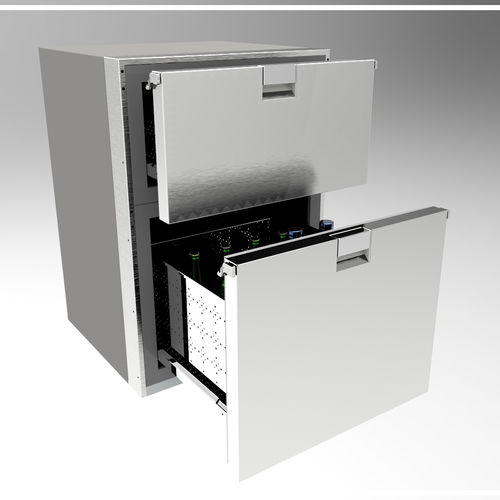refrigerator with drawer / stainless steel