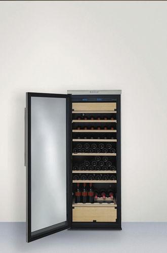 metal wine cabinet / glazed