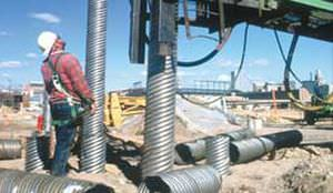 driven-pipe pile / steel / foundation