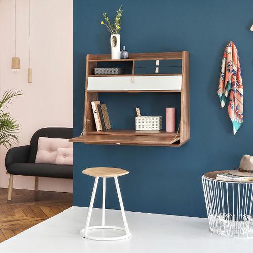 contemporary secretary desk / walnut / MDF / wall-mounted