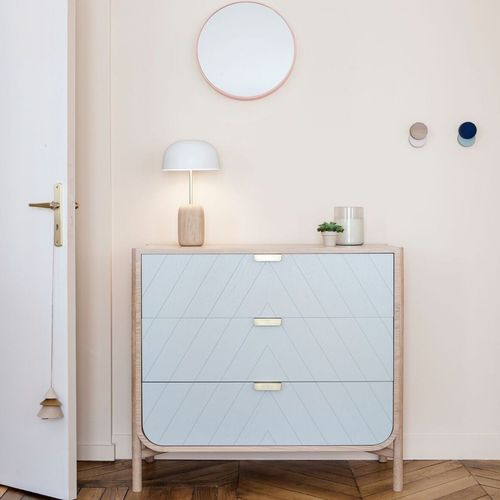contemporary chest of drawers / oak / MDF
