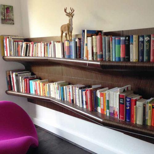 wall-mounted shelf / contemporary / plywood / wood veneer