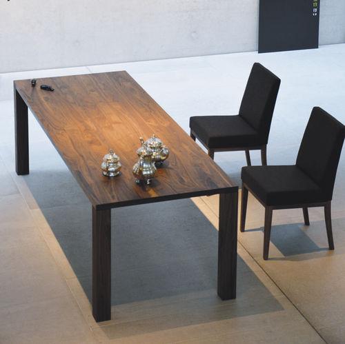 contemporary table / wood veneer / rectangular / garden