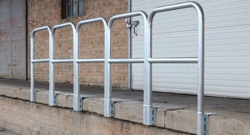 galvanized steel railing / bar / outdoor / for platforms