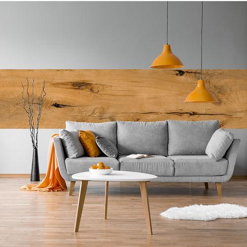 cover decorative panel / oak / wall-mounted / fire-retardant