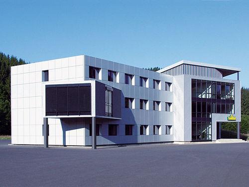modular building / prefab / wooden / glass