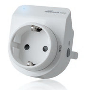 power socket / wall-mounted / contemporary / with LED indicator