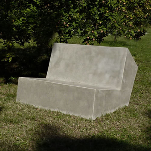 contemporary sofa / outdoor / cement / commercial