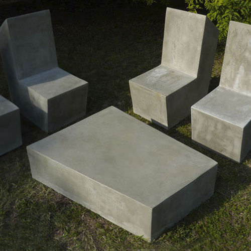 contemporary coffee table / cement / outdoor / garden