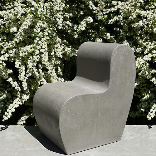 contemporary garden chair / cement