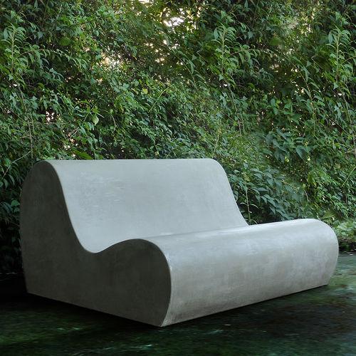 original design sofa / garden / cement / 2-person