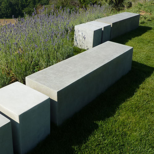 garden bench / contemporary / concrete