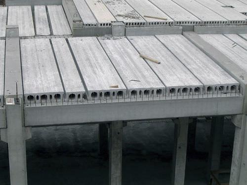 prestressed concrete deck slab / alveolar