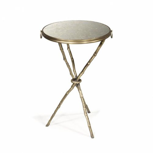 contemporary side table / glass / leather / marble