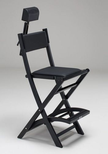 makeup chair with headrest / folding / with footrest